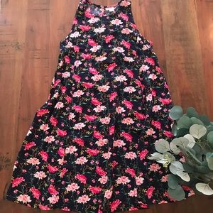 Old Navy Shift Dress in Navy Bright Blooms